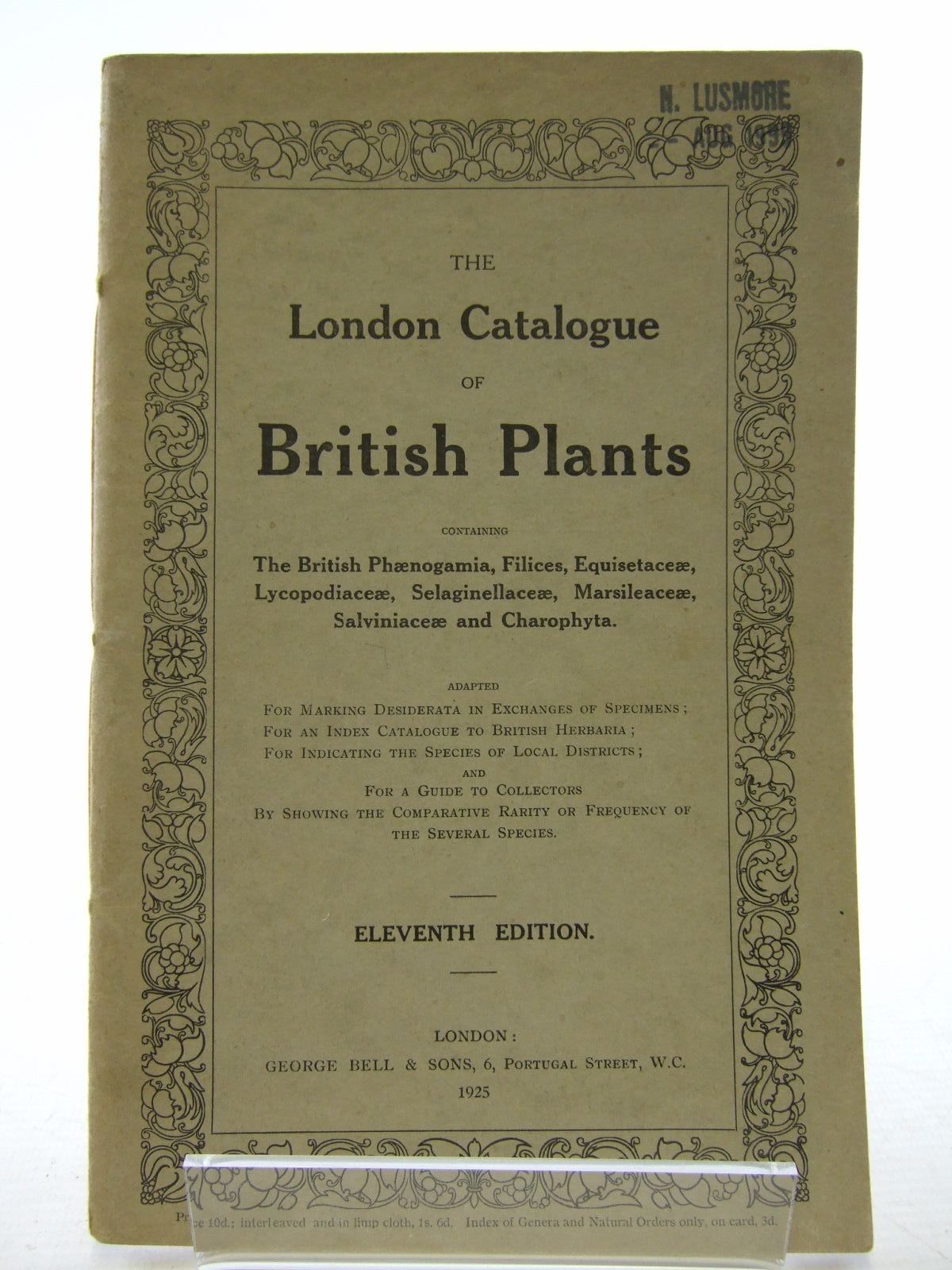 a census catalogue of british hepatics written by wilson
