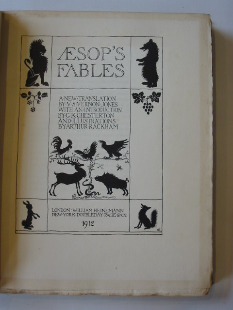 Photo of AESOP'S FABLES written by Aesop,  illustrated by Rackham, Arthur published by William Heinemann (STOCK CODE: 1302903)  for sale by Stella & Rose's Books