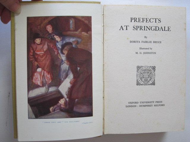 Photo of PREFECTS AT SPRINGDALE written by Bruce, Dorita Fairlie illustrated by Johnston, M.D. published by Oxford University Press, Humphrey Milford (STOCK CODE: 1305443)  for sale by Stella & Rose's Books