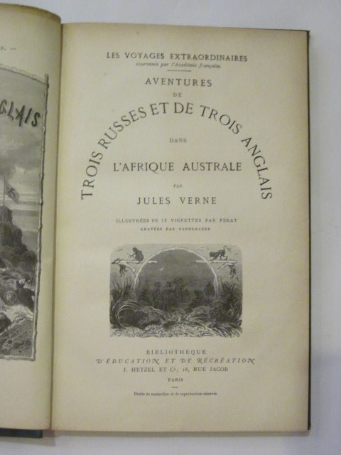 Photo of AVENTURES DE TROIS RUSSES ET DE TROIS ANGLAIS DANS L'AFRIQUE AUSTRALE written by Verne, Jules illustrated by Ferat, Jules<br />Pannemaker, Francois published by J. Hetzel Et Cie (STOCK CODE: 1306717)  for sale by Stella & Rose's Books