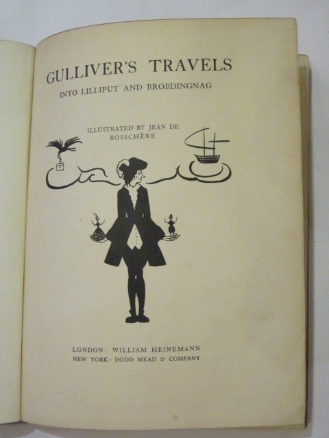 Photo of GULLIVER'S TRAVELS INTO LILLIPUT AND BROBDINGNAG written by Swift, Jonathan illustrated by De Bosschere, Jean published by William Heinemann (STOCK CODE: 1306721)  for sale by Stella & Rose's Books