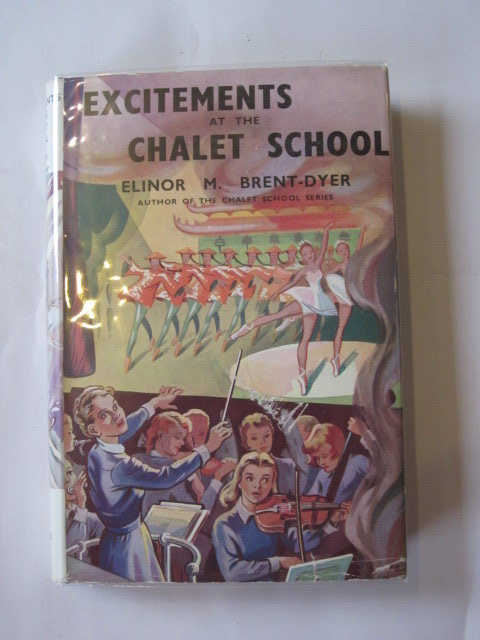 Photo of EXCITEMENTS AT THE CHALET SCHOOL written by Brent-Dyer, Elinor M. illustrated by Brook, D. published by W. & R. Chambers Limited (STOCK CODE: 1307053)  for sale by Stella & Rose's Books