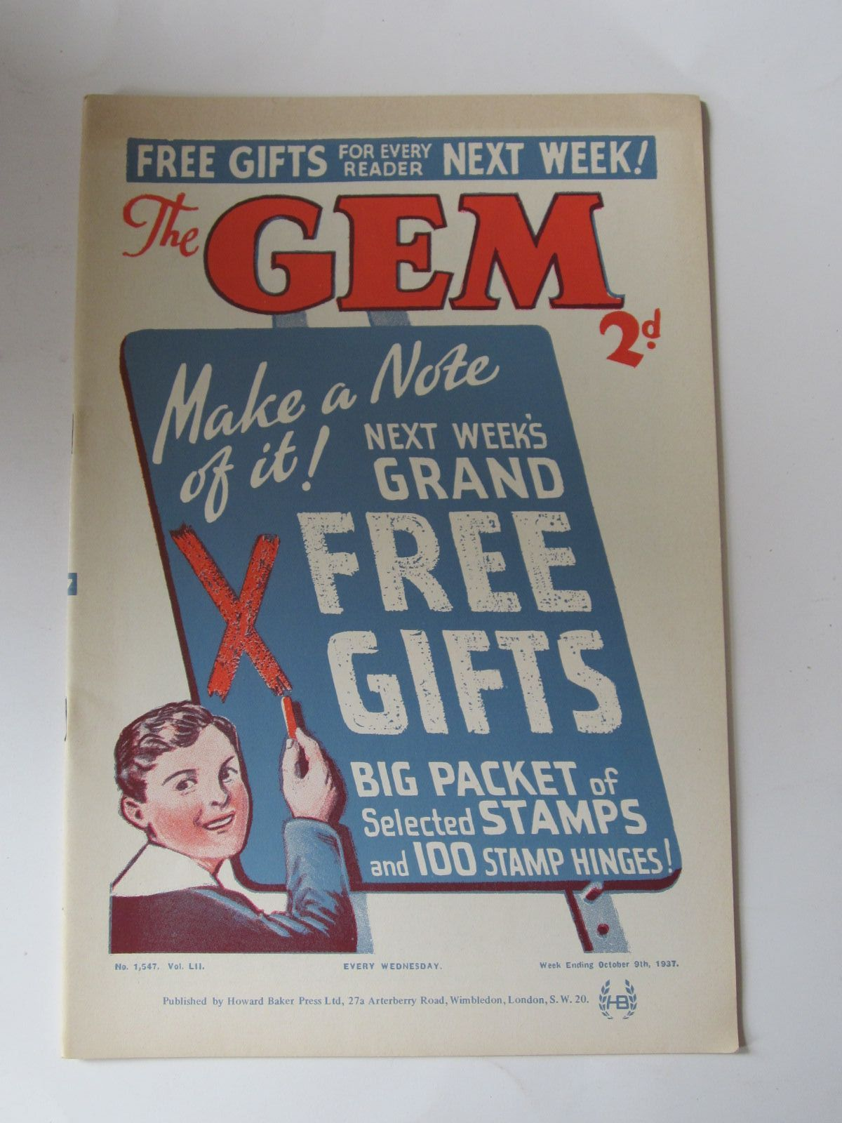 Photo of THE GEM LIBRARY No. 1,547, VOL. LII written by Clifford, Martin<br />Richards, Frank published by Howard Baker Press (STOCK CODE: 1308459)  for sale by Stella & Rose's Books