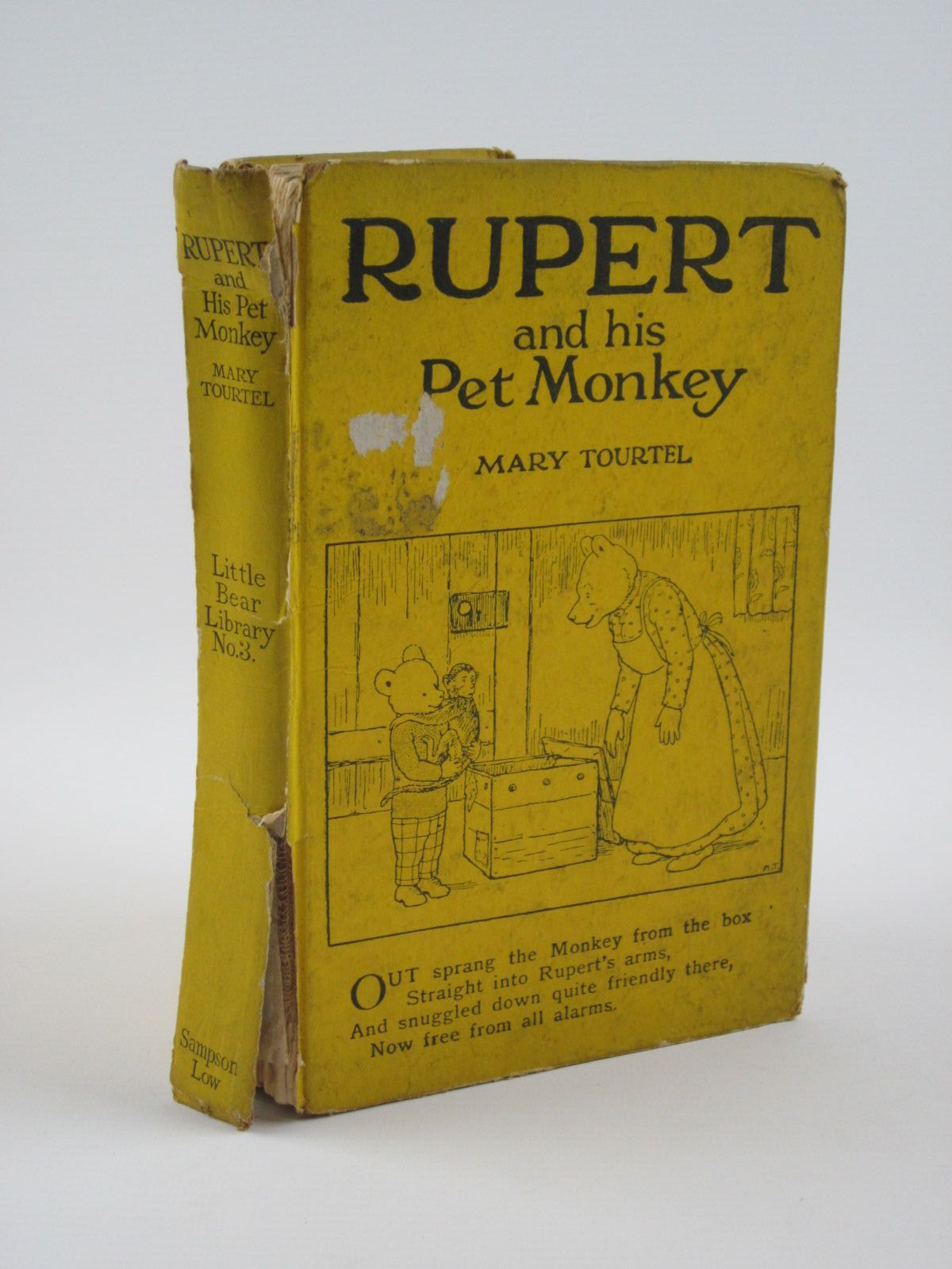 Photo of RUPERT AND HIS PET MONKEY - RUPERT LITTLE BEAR LIBRARY No. 3 written by Tourtel, Mary illustrated by Tourtel, Mary published by Sampson Low, Marston & Co. Ltd. (STOCK CODE: 1309749)  for sale by Stella & Rose's Books