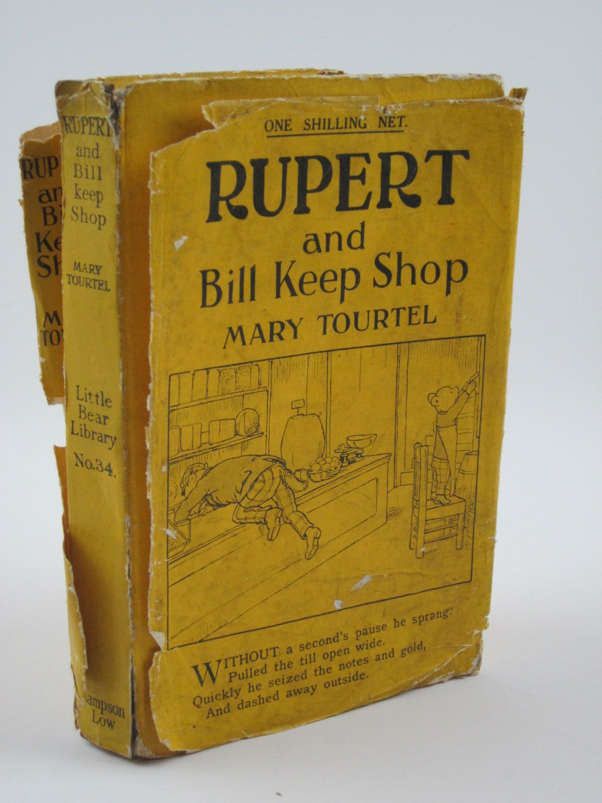 Photo of RUPERT AND BILL KEEP SHOP - RUPERT LITTLE BEAR LIBRARY No. 34 written by Tourtel, Mary illustrated by Tourtel, Mary published by Sampson Low, Marston & Co. Ltd. (STOCK CODE: 1309753)  for sale by Stella & Rose's Books