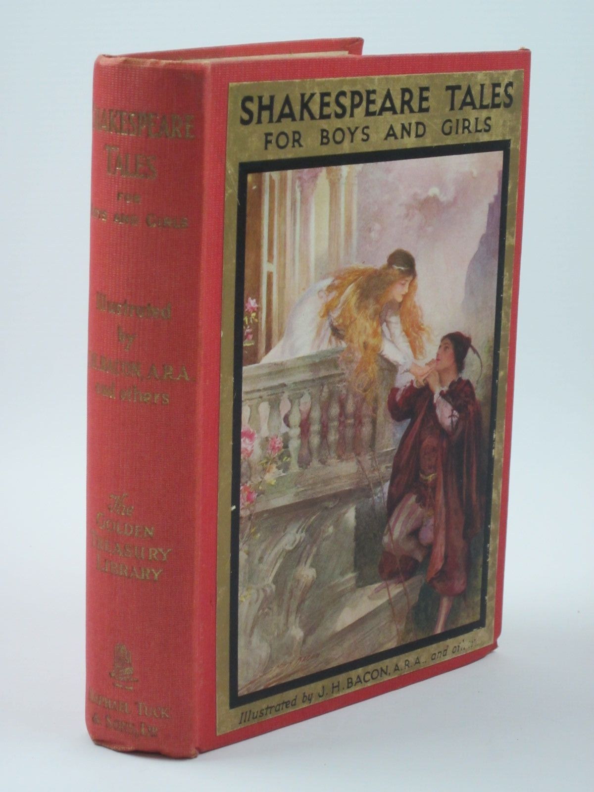 Photo of SHAKESPEARE TALES FOR BOYS AND GIRLS and WHEN SHAKESPEARE WAS A BOY written by Furnivall, F.J.<br />Shakespeare, William illustrated by Bacon, John H.F.<br />et al., published by Raphael Tuck & Sons Ltd. (STOCK CODE: 1309876)  for sale by Stella & Rose's Books