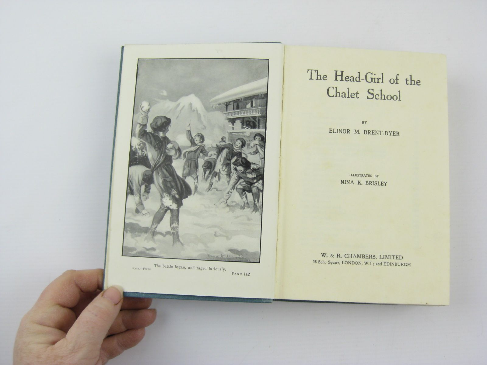 Photo of THE HEAD GIRL OF THE CHALET SCHOOL written by Brent-Dyer, Elinor M. illustrated by Brisley, Nina K. published by W. & R. Chambers Limited (STOCK CODE: 1310609)  for sale by Stella & Rose's Books