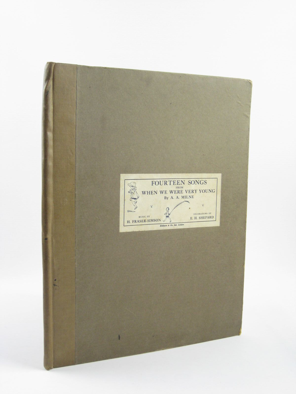 Photo of FOURTEEN SONGS FROM WHEN WE WERE VERY YOUNG written by Milne, A.A.<br />Fraser-Simson, H. illustrated by Shepard, E.H. published by Methuen & Co. Ltd., Ascherberg, Hopwood & Crew Ltd. (STOCK CODE: 1310640)  for sale by Stella & Rose's Books