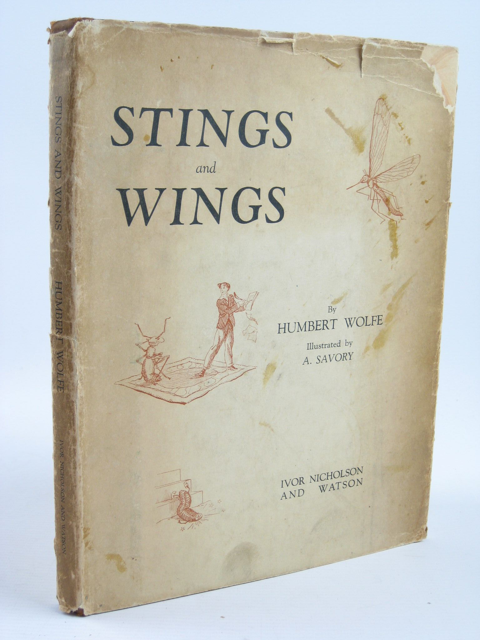 Photo of STINGS AND WINGS written by Wolfe, Humbert illustrated by Savory, A. published by Ivor Nicholson & Watson Ltd. (STOCK CODE: 1311313)  for sale by Stella & Rose's Books