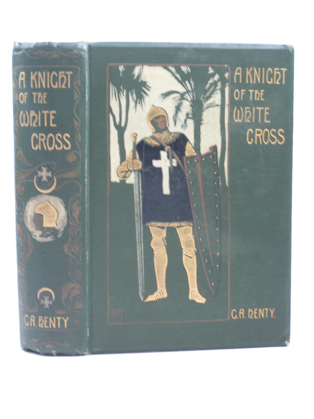 Photo of A KNIGHT OF THE WHITE CROSS written by Henty, G.A. illustrated by Peacock, Ralph published by Blackie & Son Ltd. (STOCK CODE: 1312968)  for sale by Stella & Rose's Books
