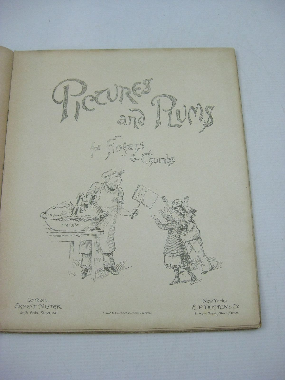 Photo of PICTURES AND PLUMS FOR FINGERS AND THUMBS written by Vredenburg, Edric<br />et al, published by Ernest Nister, E.P. Dutton & Co. (STOCK CODE: 1314999)  for sale by Stella & Rose's Books