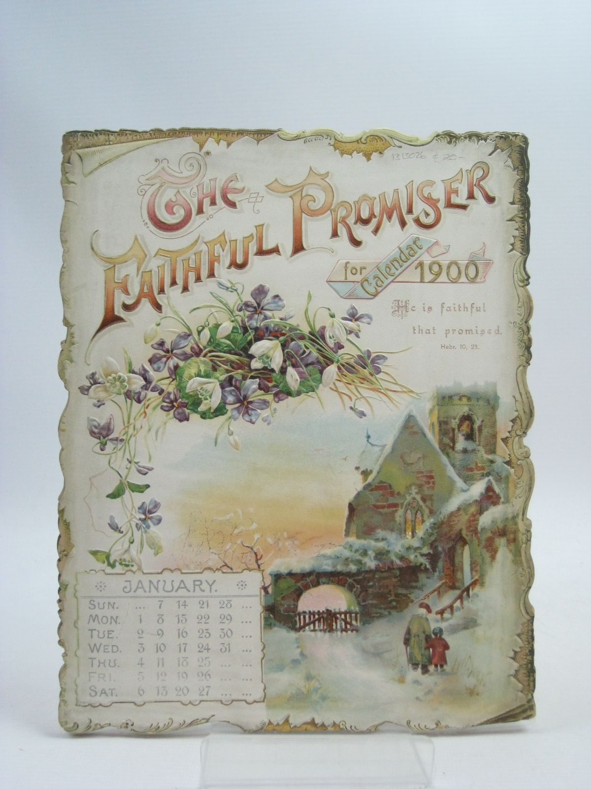 Photo of THE FAITHFUL PROMISER CALENDAR FOR 1900 (STOCK CODE: 1315026)  for sale by Stella & Rose's Books