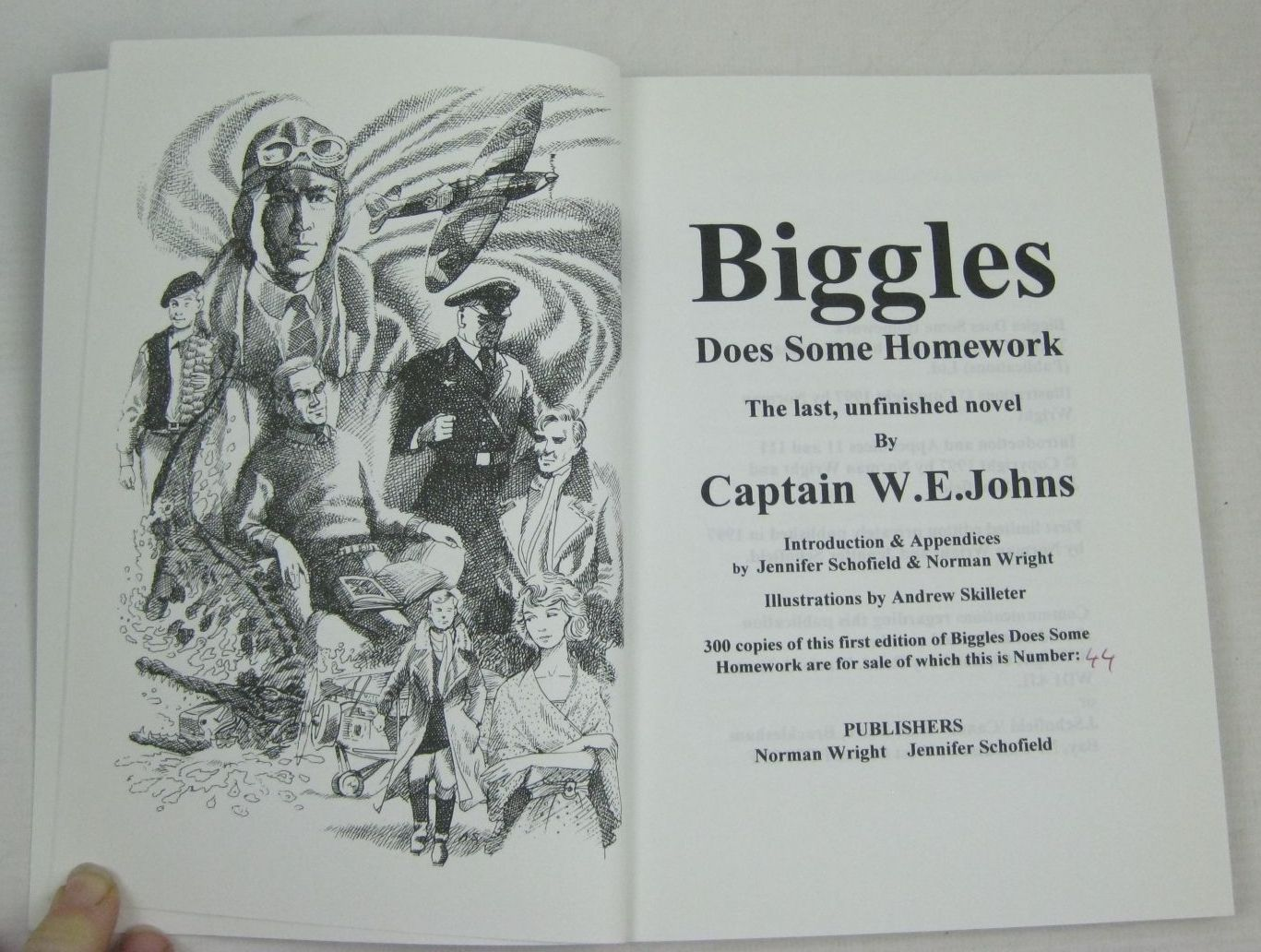 biggles does some homework text