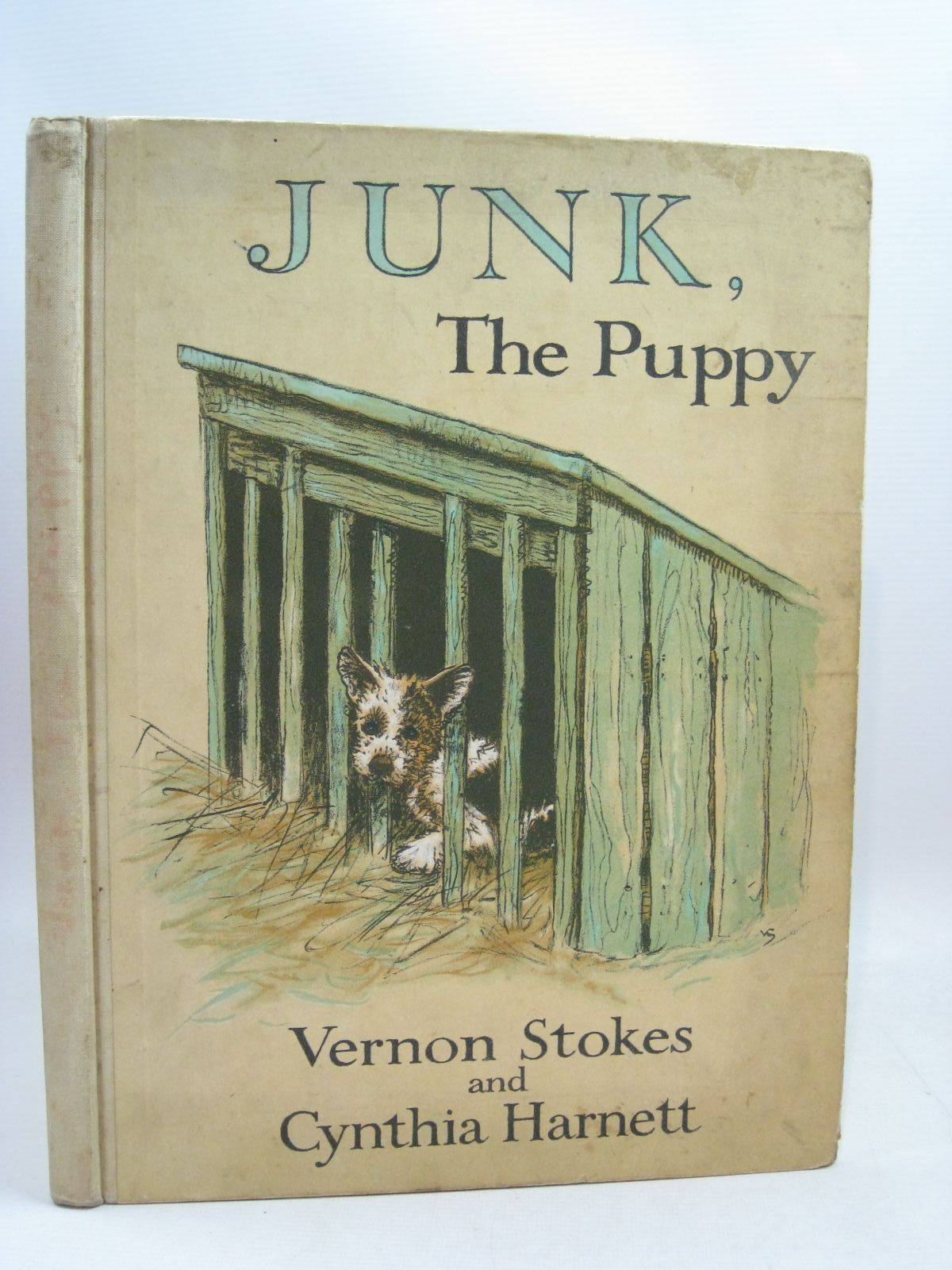 Photo of JUNK, THE PUPPY written by Stokes, Vernon<br />Harnett, Cynthia illustrated by Stokes, Vernon<br />Harnett, Cynthia published by Blackie & Son Ltd. (STOCK CODE: 1315705)  for sale by Stella & Rose's Books