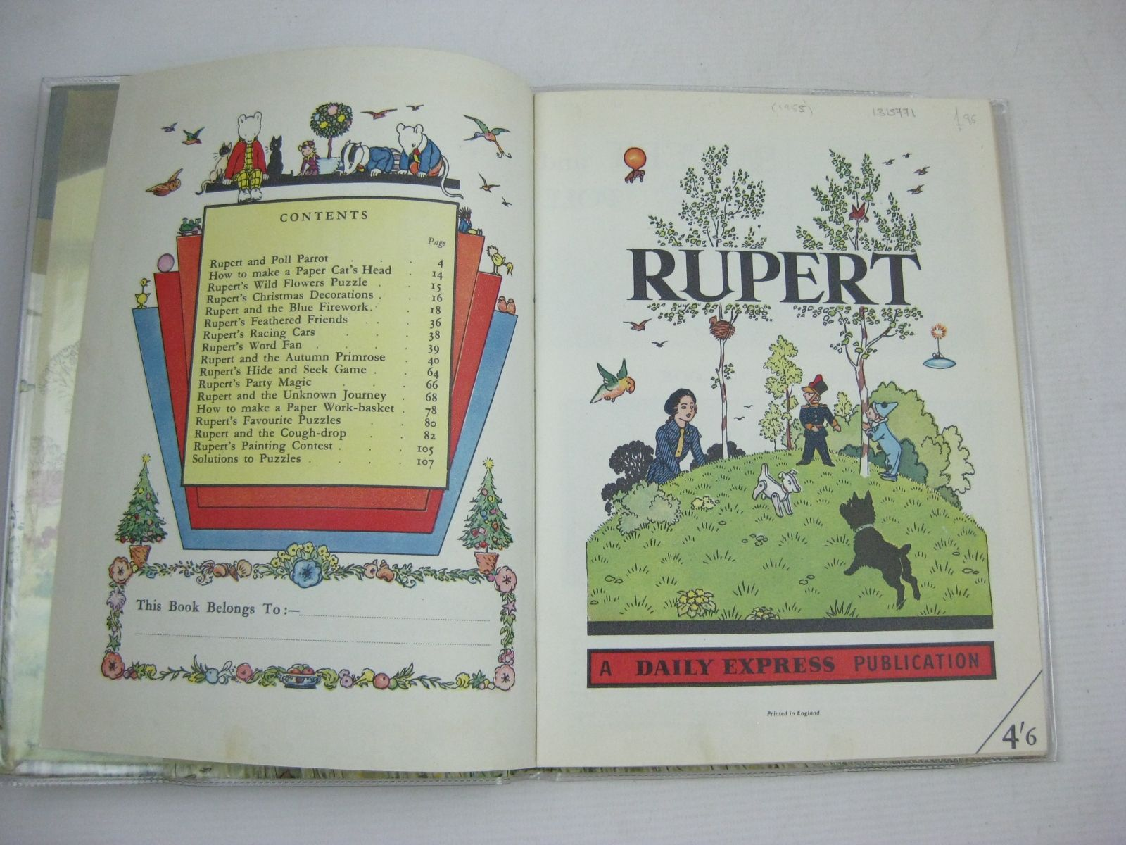 Photo of RUPERT ANNUAL 1955 written by Bestall, Alfred illustrated by Bestall, Alfred published by Daily Express (STOCK CODE: 1315771)  for sale by Stella & Rose's Books