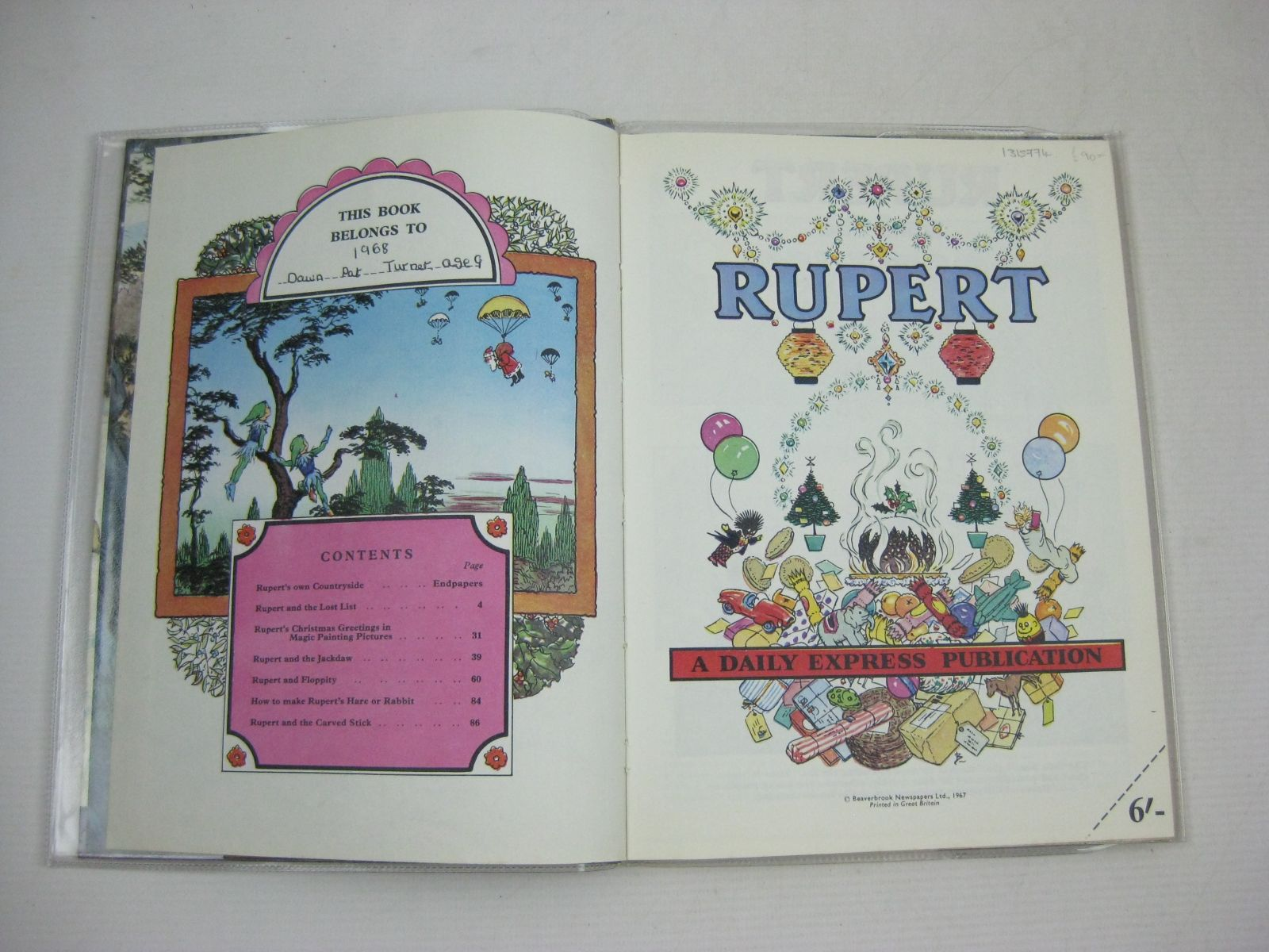 Photo of RUPERT ANNUAL 1967 written by Bestall, Alfred illustrated by Bestall, Alfred published by Daily Express (STOCK CODE: 1315774)  for sale by Stella & Rose's Books