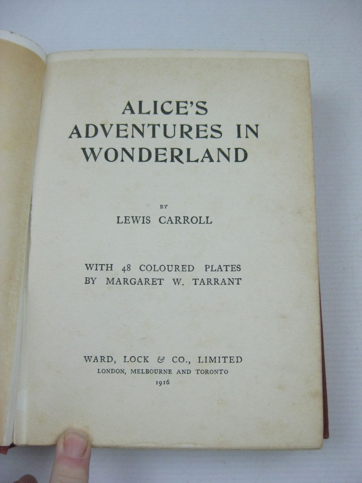 Photo of ALICE IN WONDERLAND written by Carroll Lewis illustrated by Tarrant Margaret published & ALICE IN WONDERLAND written by Carroll Lewis STOCK CODE: 1316197 ...