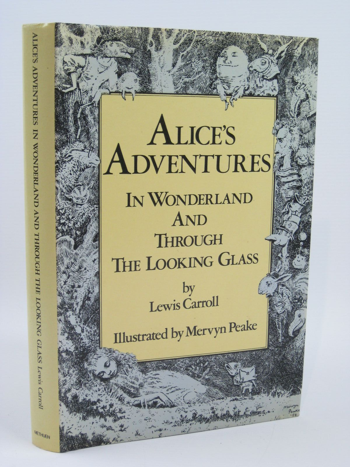 Photo of ALICE'S ADVENTURES IN WONDERLAND AND THROUGH THE LOOKING GLASS written by Carroll, Lewis illustrated by Peake, Mervyn published by Methuen Children's Books (STOCK CODE: 1316293)  for sale by Stella & Rose's Books