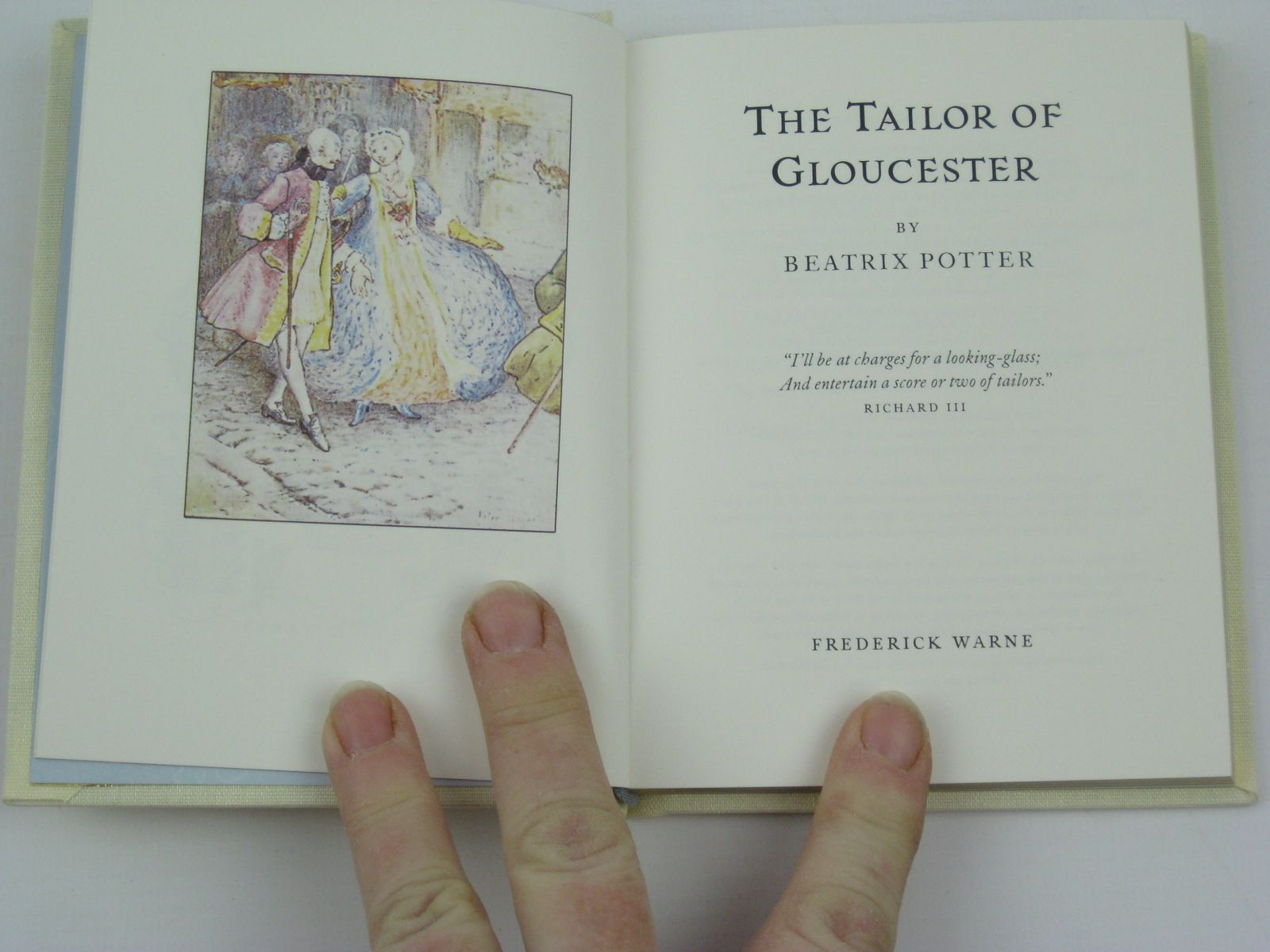 Photo of THE TAILOR OF GLOUCESTER written by Potter, Beatrix illustrated by Potter, Beatrix published by Frederick Warne, The Penguin Group (STOCK CODE: 1316336)  for sale by Stella & Rose's Books
