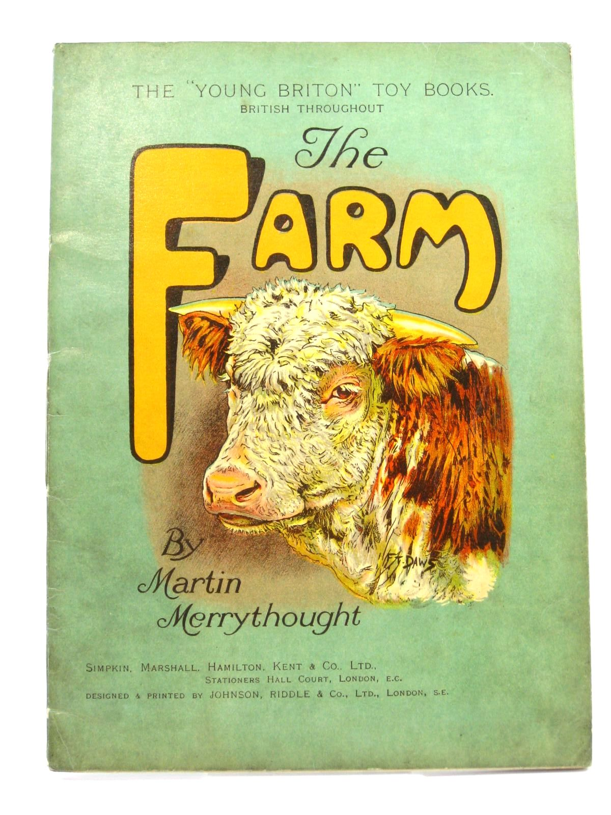 Photo of THE FARM written by Merrythought, Martin illustrated by Daws, F.<br />Lumley, Savile published by Simpkin, Marshall, Hamilton, Kent & Co. Ltd. (STOCK CODE: 1316430)  for sale by Stella & Rose's Books