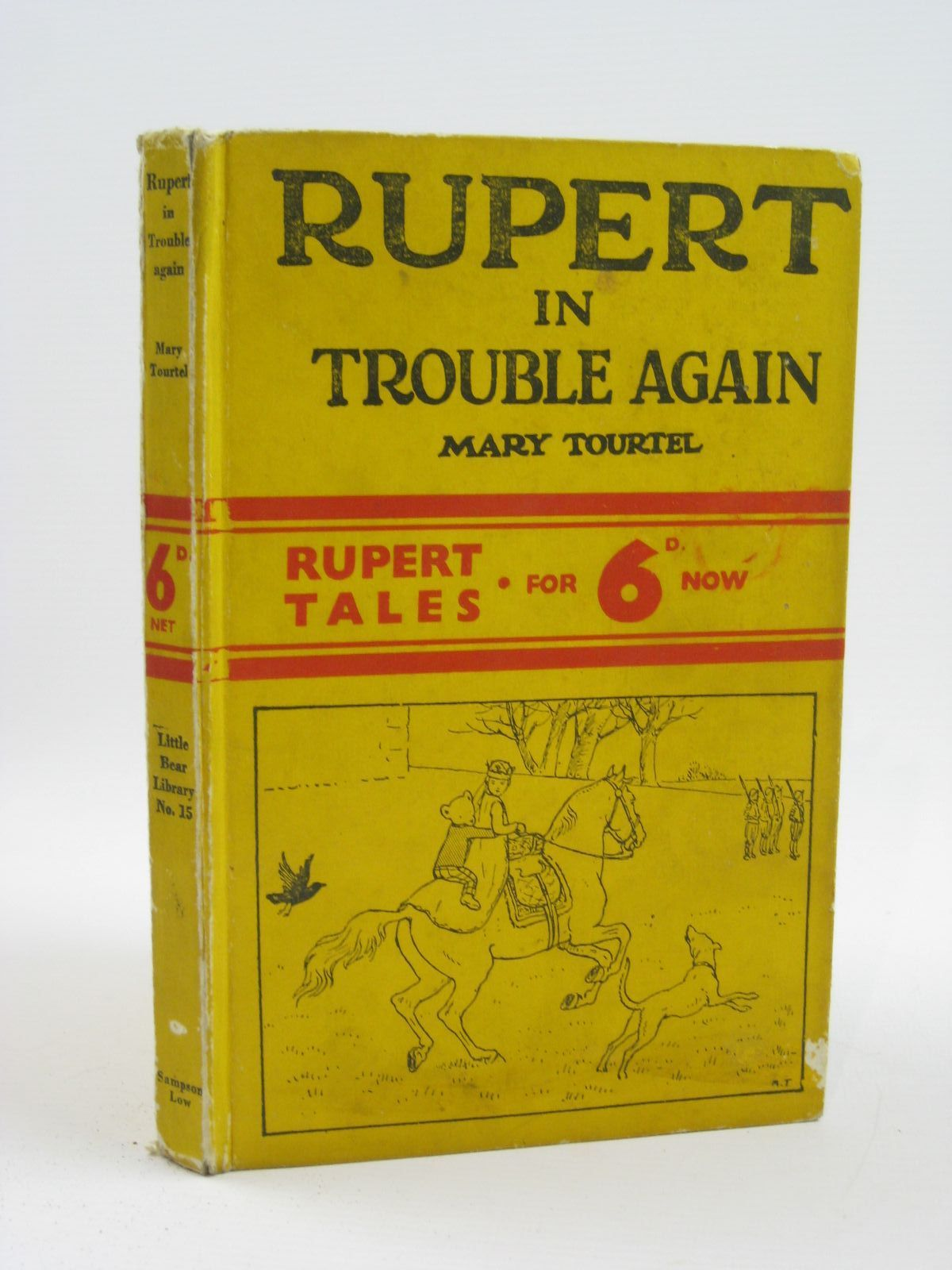 Photo of RUPERT IN TROUBLE AGAIN - RUPERT LITTLE BEAR LIBRARY No. 15 written by Tourtel, Mary illustrated by Tourtel, Mary published by Sampson Low, Marston & Co. Ltd. (STOCK CODE: 1316464)  for sale by Stella & Rose's Books