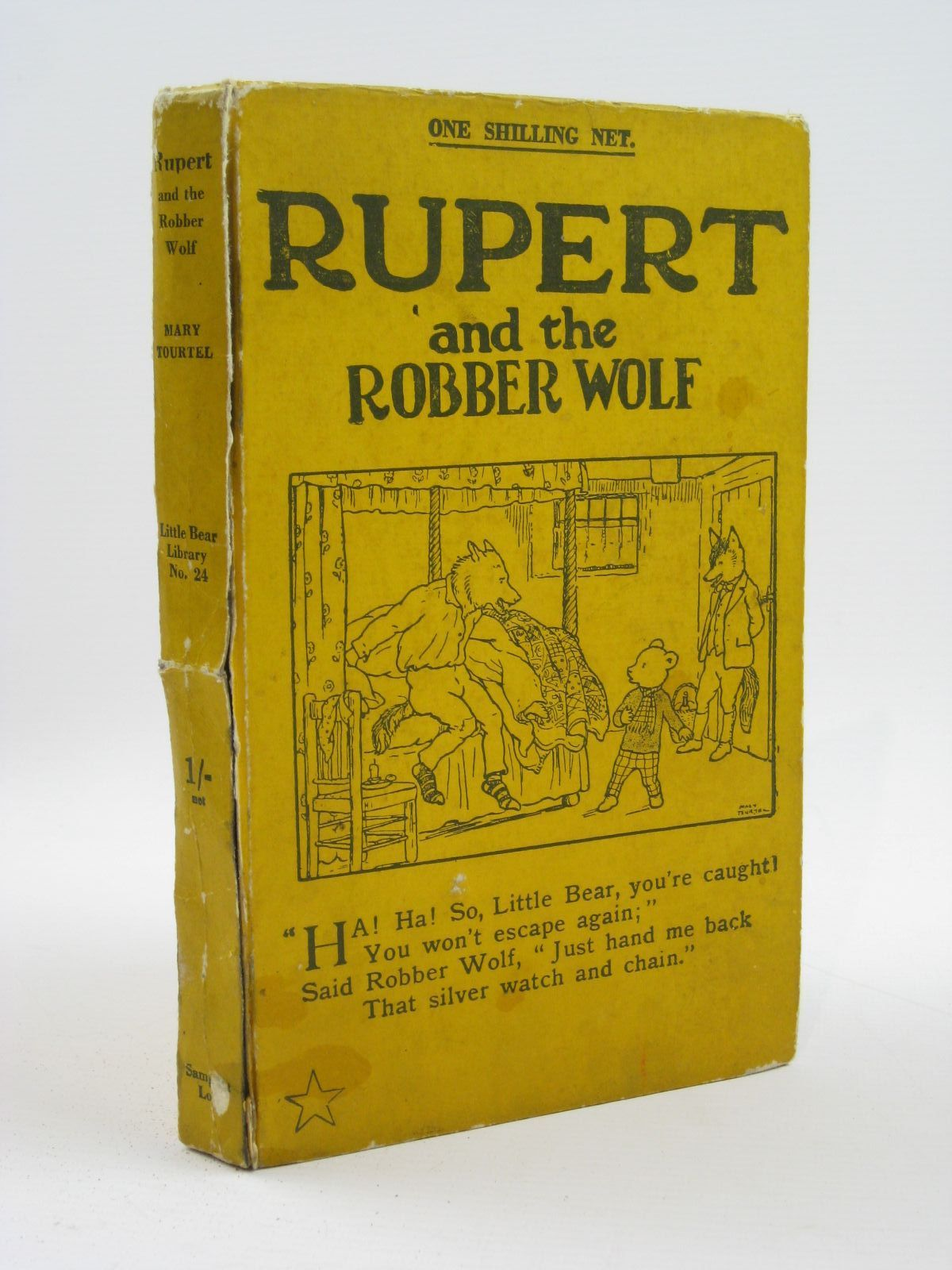 Photo of RUPERT AND THE ROBBER WOLF - RUPERT LITTLE BEAR LIBRARY No. 24 written by Tourtel, Mary illustrated by Tourtel, Mary published by Sampson Low, Marston & Co. Ltd. (STOCK CODE: 1316470)  for sale by Stella & Rose's Books
