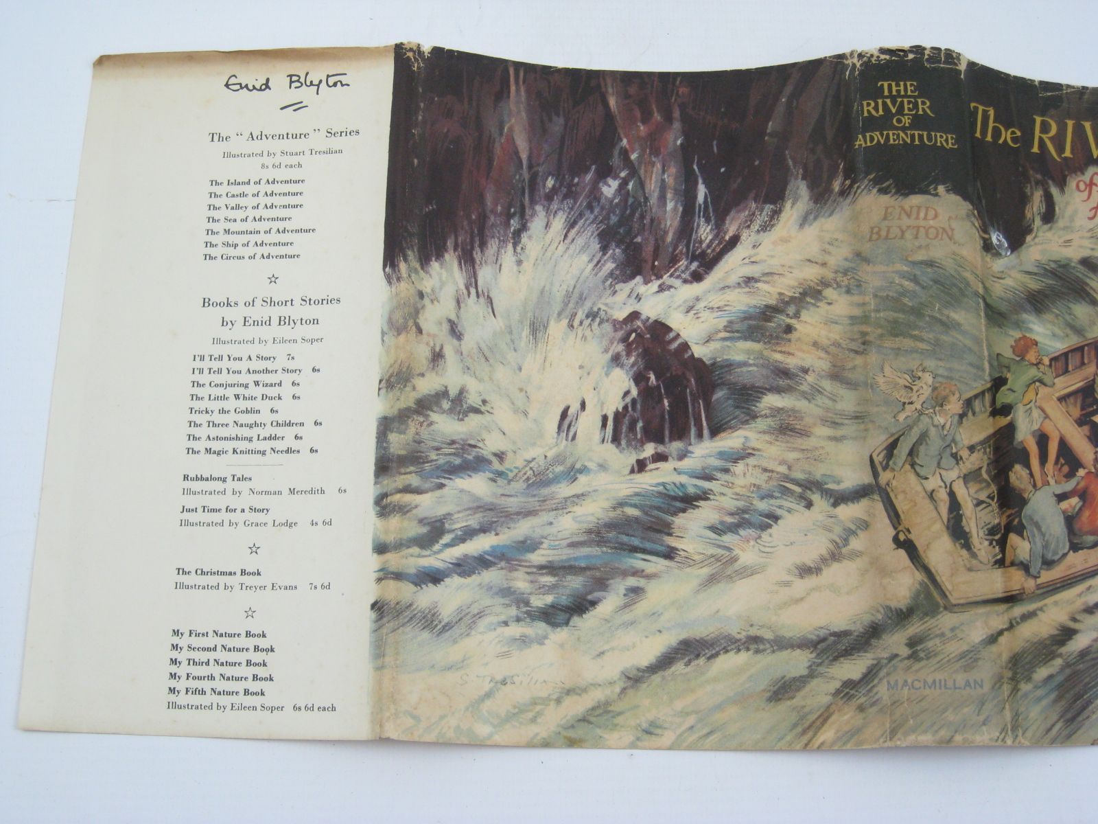 Photo of THE RIVER OF ADVENTURE written by Blyton, Enid illustrated by Tresilian, Stuart published by Macmillan & Co. Ltd. (STOCK CODE: 1316497)  for sale by Stella & Rose's Books