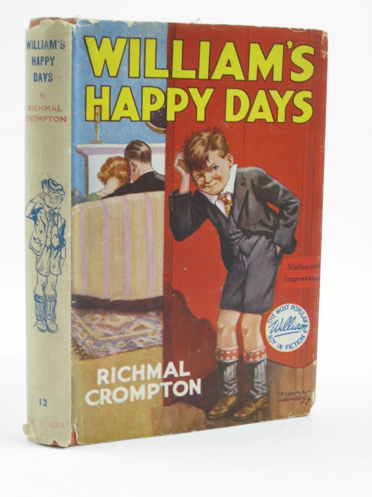 Photo of WILLIAM'S HAPPY DAYS written by Crompton, Richmal illustrated by Henry, Thomas published by George Newnes Limited (STOCK CODE: 1316498)  for sale by Stella & Rose's Books