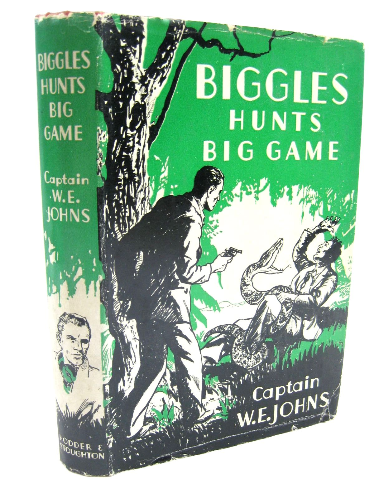 Photo of BIGGLES HUNTS BIG GAME written by Johns, W.E. illustrated by Stead,  published by Hodder & Stoughton (STOCK CODE: 1316600)  for sale by Stella & Rose's Books