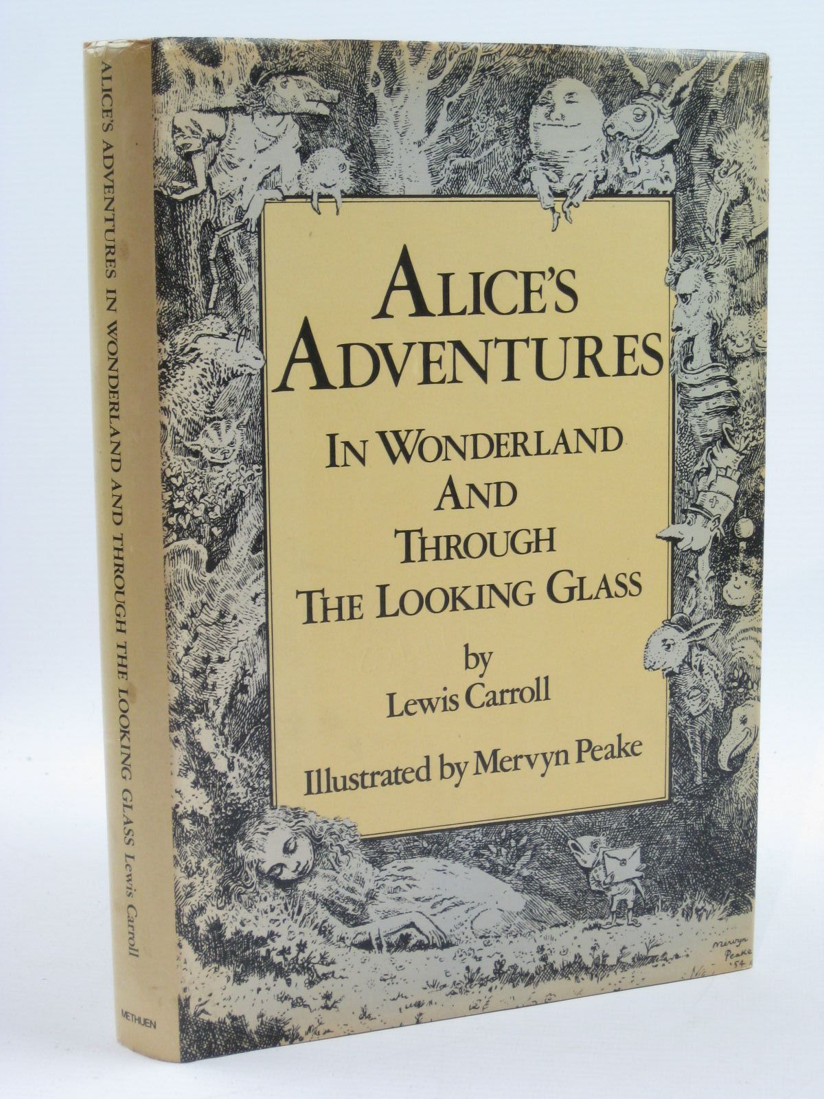 Photo of ALICE'S ADVENTURES IN WONDERLAND AND THROUGH THE LOOKING GLASS written by Carroll, Lewis illustrated by Peake, Mervyn published by Methuen Children's Books (STOCK CODE: 1316696)  for sale by Stella & Rose's Books