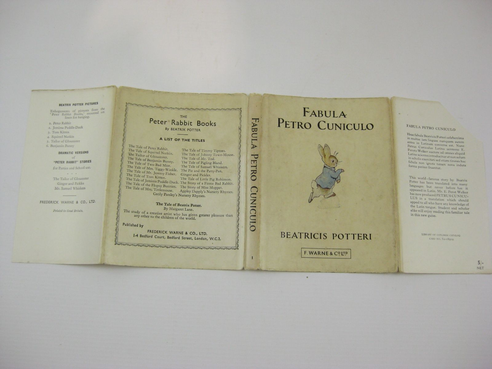 Photo of FABULA PETRO CUNICULO written by Potter, Beatrix<br />Walkeri, E. Perotis illustrated by Potter, Beatrix published by Frederick Warne & Co Ltd. (STOCK CODE: 1316771)  for sale by Stella & Rose's Books