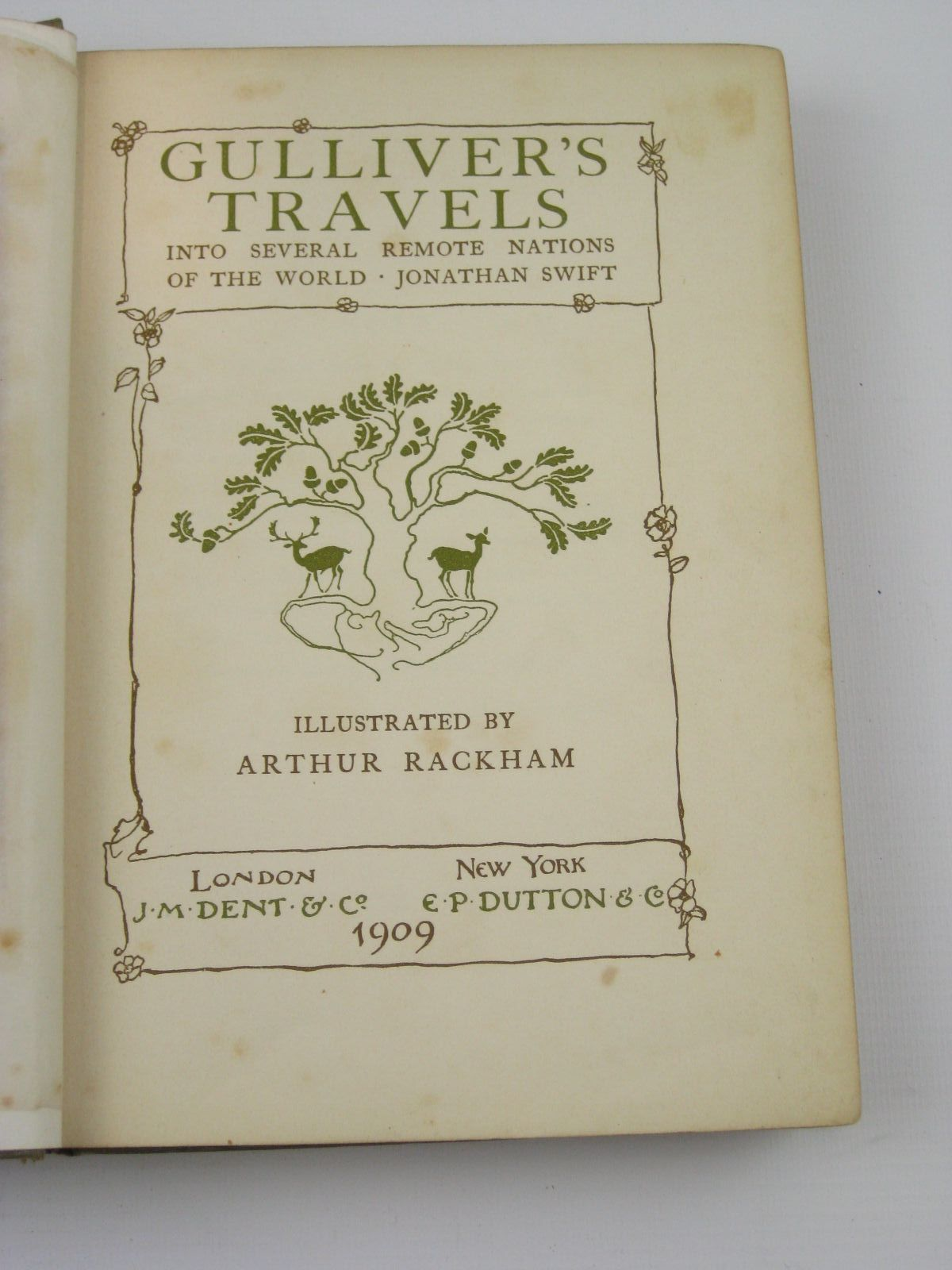 Photo of GULLIVER'S TRAVELS written by Swift, Jonathan illustrated by Rackham, Arthur published by J.M. Dent & Co. (STOCK CODE: 1316816)  for sale by Stella & Rose's Books