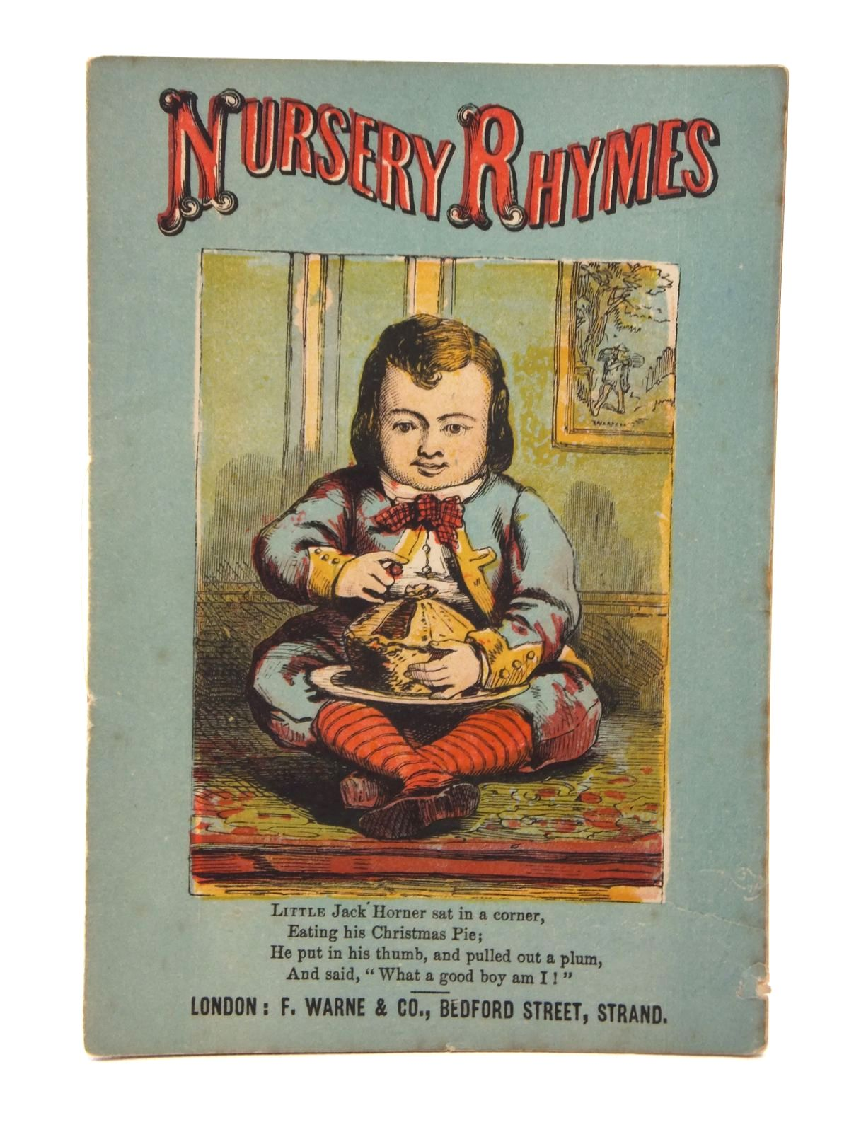 Photo of NURSERY RHYMES published by F. Warne & Co. (STOCK CODE: 1316929)  for sale by Stella & Rose's Books