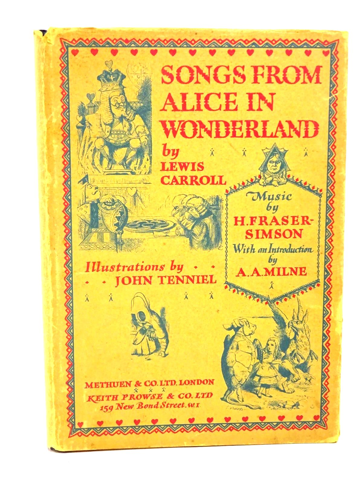 Photo of SONGS FROM ALICE IN WONDERLAND written by Carroll, Lewis<br />Fraser-Simson, H. illustrated by Tenniel, John published by Methuen & Co. Ltd. (STOCK CODE: 1317821)  for sale by Stella & Rose's Books