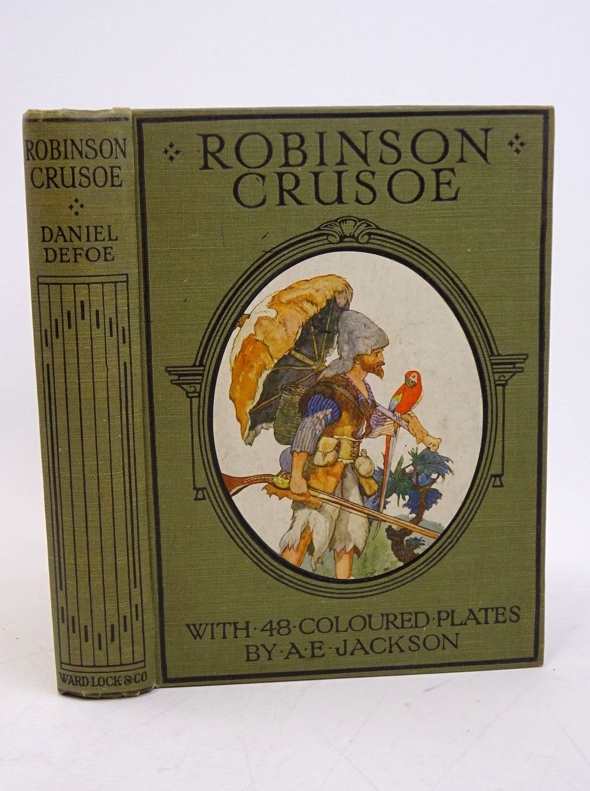 Photo of THE ADVENTURES OF ROBINSON CRUSOE written by Defoe, Daniel illustrated by Jackson, A.E. published by Ward, Lock & Co. Ltd. (STOCK CODE: 1317850)  for sale by Stella & Rose's Books