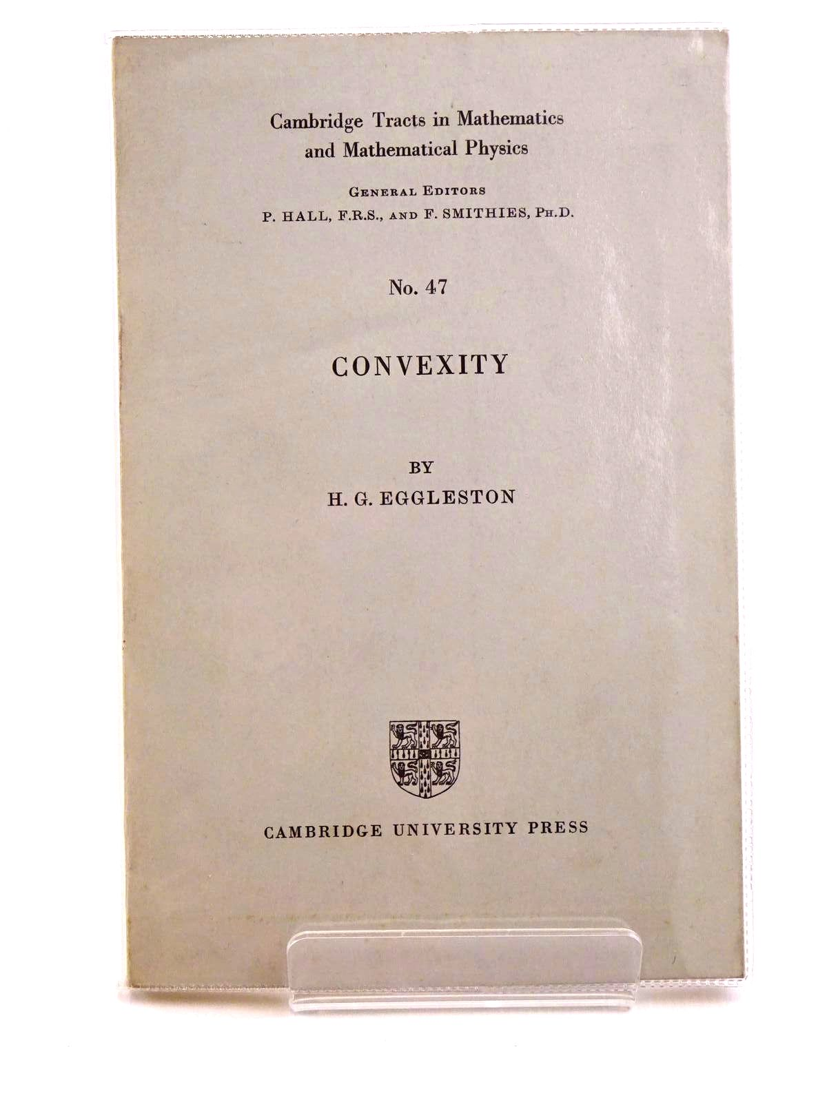 Photo of CONVEXITY written by Eggleston, H.G. published by Cambridge University Press (STOCK CODE: 1318139)  for sale by Stella & Rose's Books