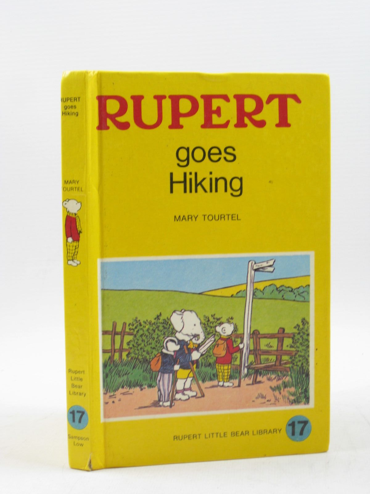 Photo of RUPERT GOES HIKING - RUPERT LITTLE BEAR LIBRARY No. 17 (WOOLWORTH) written by Tourtel, Mary illustrated by Tourtel, Mary published by Sampson Low, Marston & Co. Ltd. (STOCK CODE: 1402875)  for sale by Stella & Rose's Books