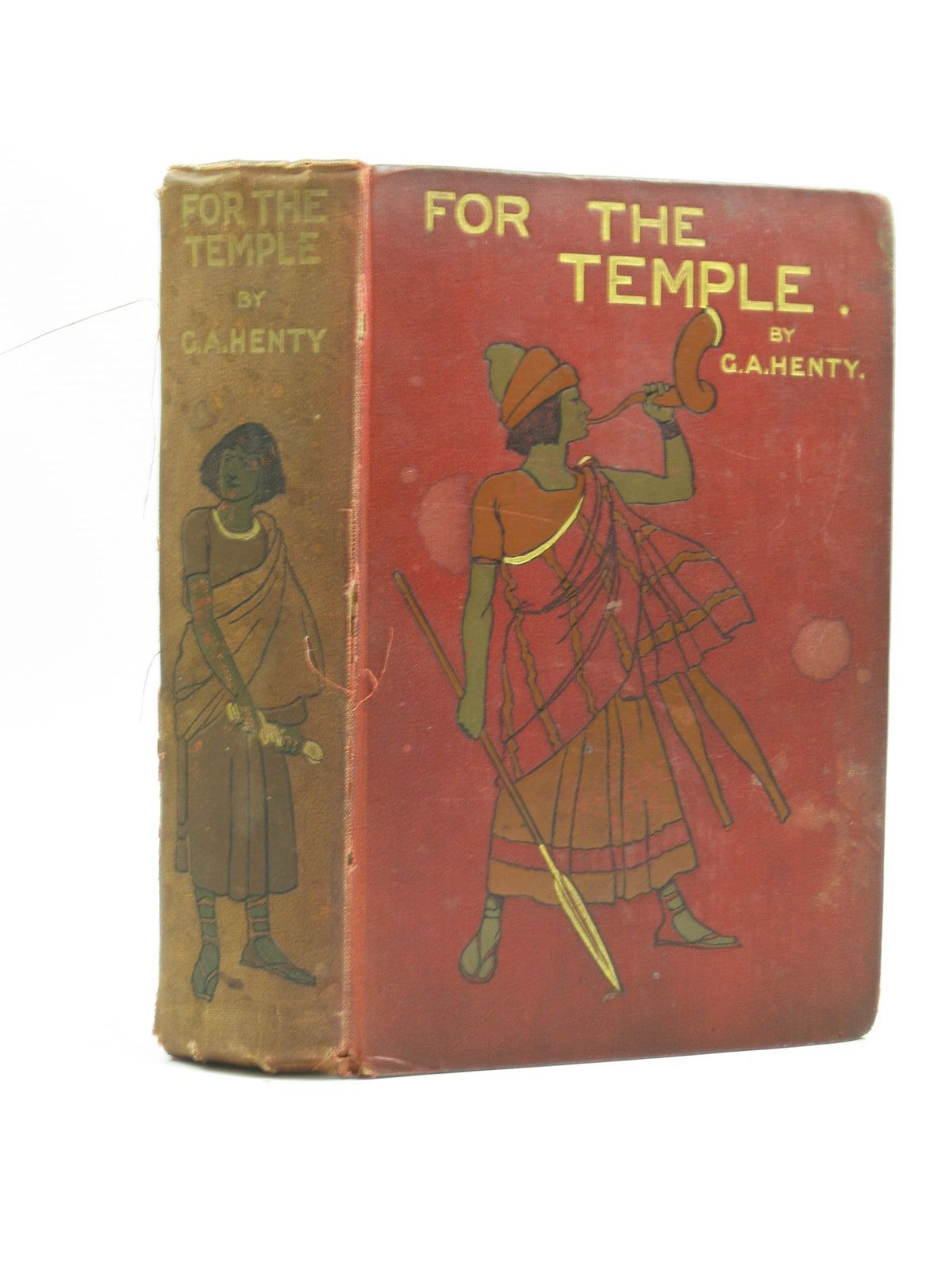 Photo of FOR THE TEMPLE written by Henty, G.A. illustrated by Solomon, Solomon J. published by Blackie & Son Ltd. (STOCK CODE: 1403627)  for sale by Stella & Rose's Books