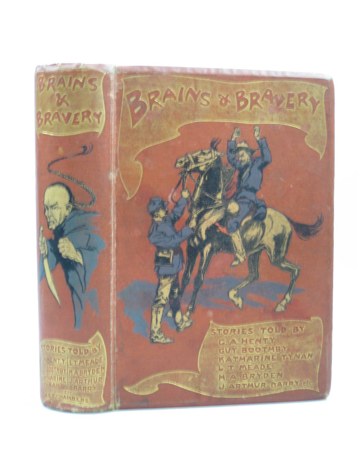 Photo of BRAINS & BRAVERY written by Henty, G.A.<br />Boothby, Guy<br />et al, illustrated by Rackham, Arthur published by W. & R. Chambers Limited (STOCK CODE: 1403629)  for sale by Stella & Rose's Books