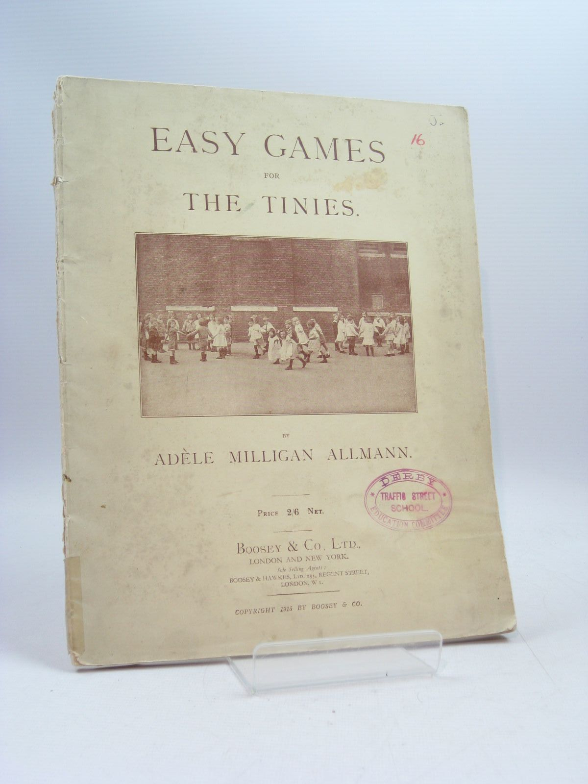 Photo of EASY GAMES FOR THE TINIES written by Allmann, Adele Milligan published by Boosey & Co. Ltd. (STOCK CODE: 1403774)  for sale by Stella & Rose's Books