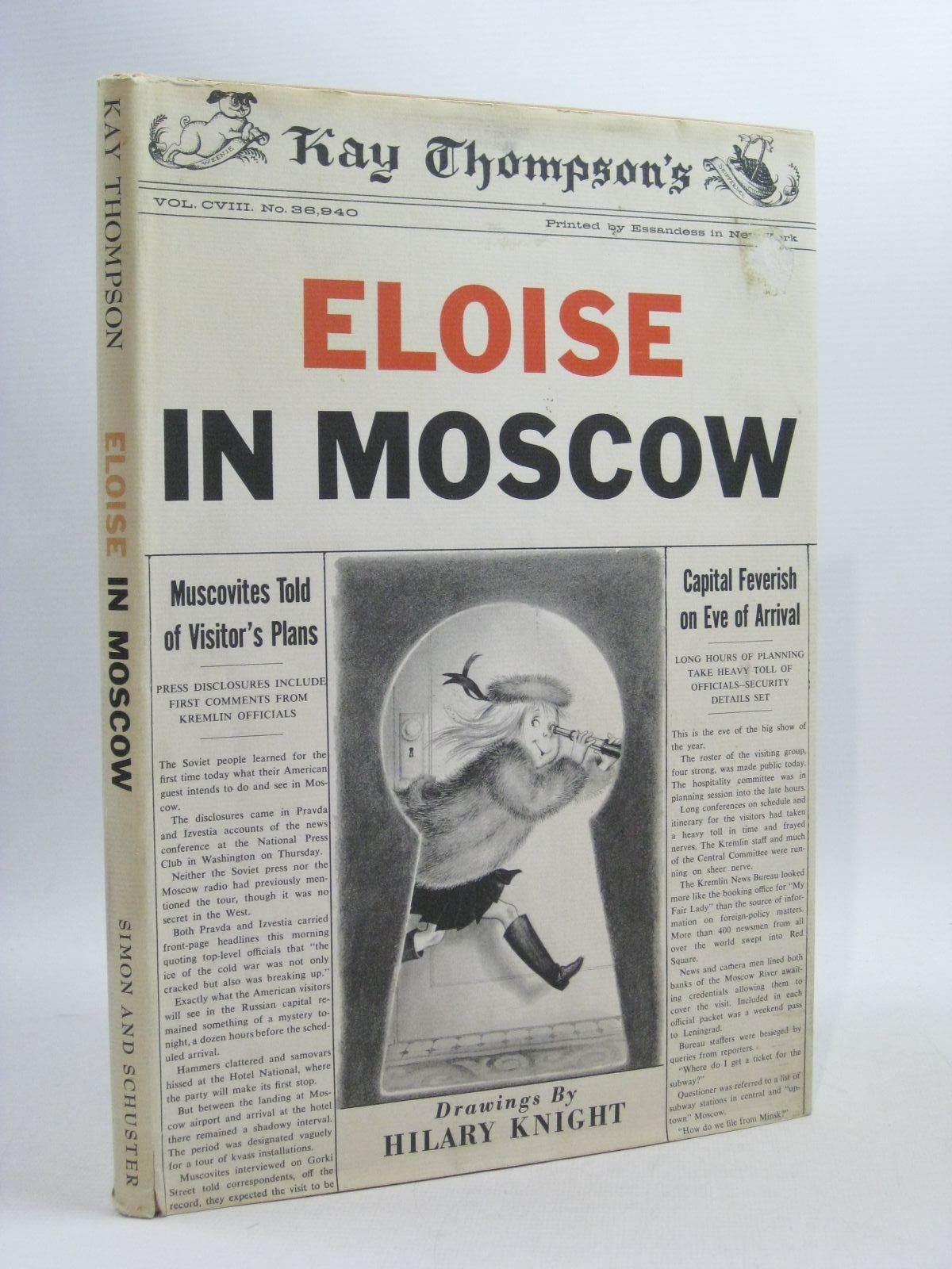 Photo of ELOISE IN MOSCOW written by Thompson, Kay illustrated by Knight, Hilary published by Simon & Schuster (STOCK CODE: 1404471)  for sale by Stella & Rose's Books