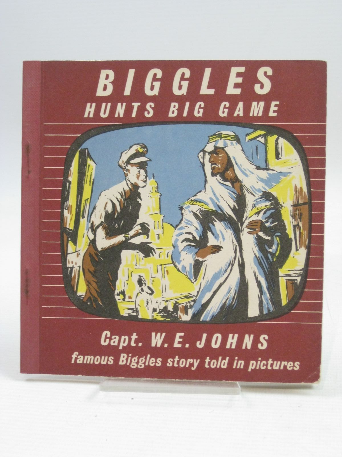 Photo of BIGGLES HUNTS BIG GAME written by Johns, W.E. illustrated by Kay,  published by The Brockhampton Press Ltd. (STOCK CODE: 1405062)  for sale by Stella & Rose's Books