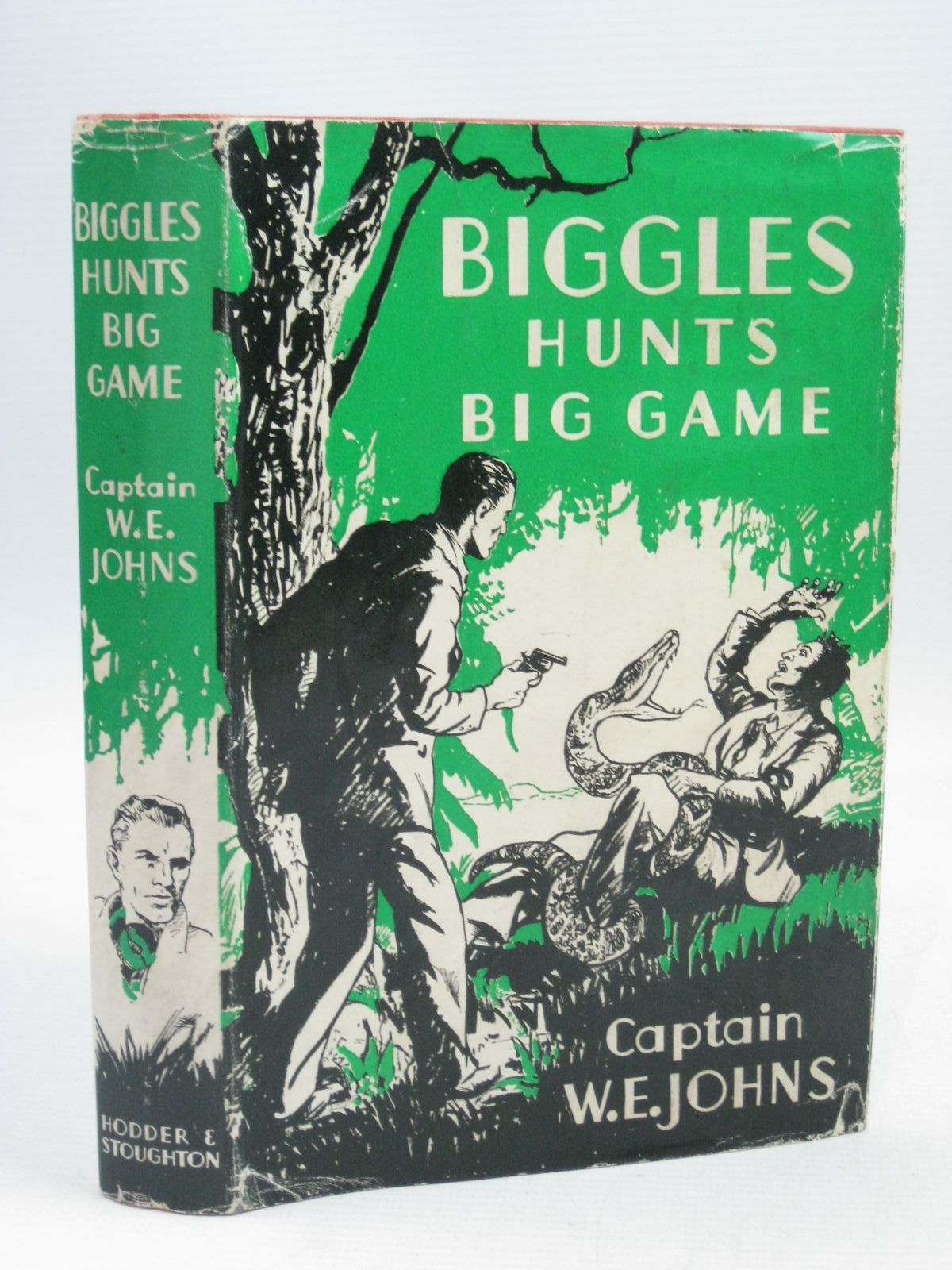 Photo of BIGGLES HUNTS BIG GAME written by Johns, W.E. illustrated by Stead,  published by Hodder & Stoughton (STOCK CODE: 1405126)  for sale by Stella & Rose's Books