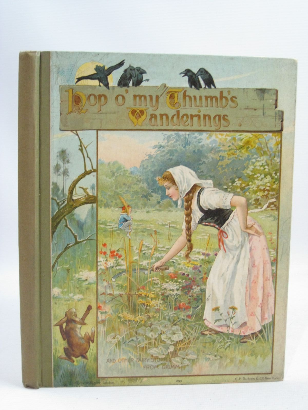 Photo of HOP O' MY THUMB'S WANDERINGS written by Grimm, Brothers illustrated by Lance, E.<br />et al., published by Ernest Nister (STOCK CODE: 1405210)  for sale by Stella & Rose's Books