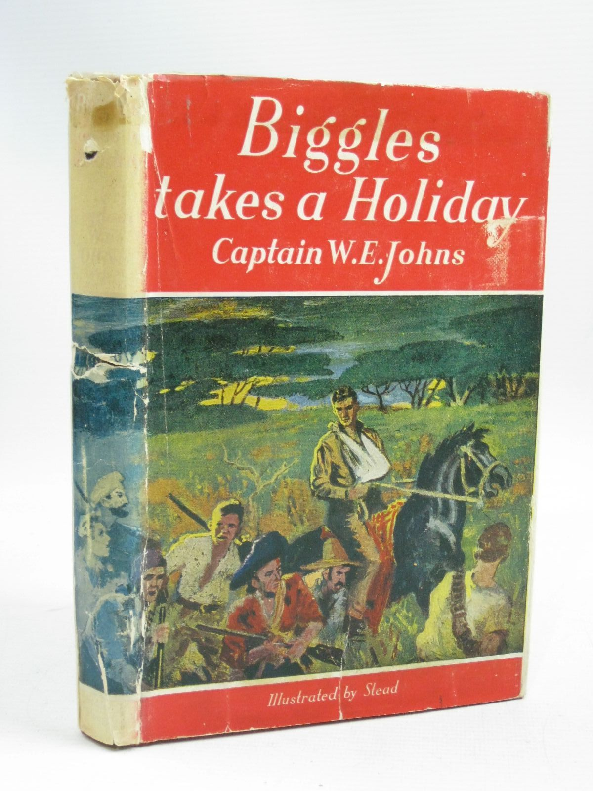 Photo of BIGGLES TAKES A HOLIDAY written by Johns, W.E. illustrated by Stead,  published by Hodder & Stoughton (STOCK CODE: 1405343)  for sale by Stella & Rose's Books