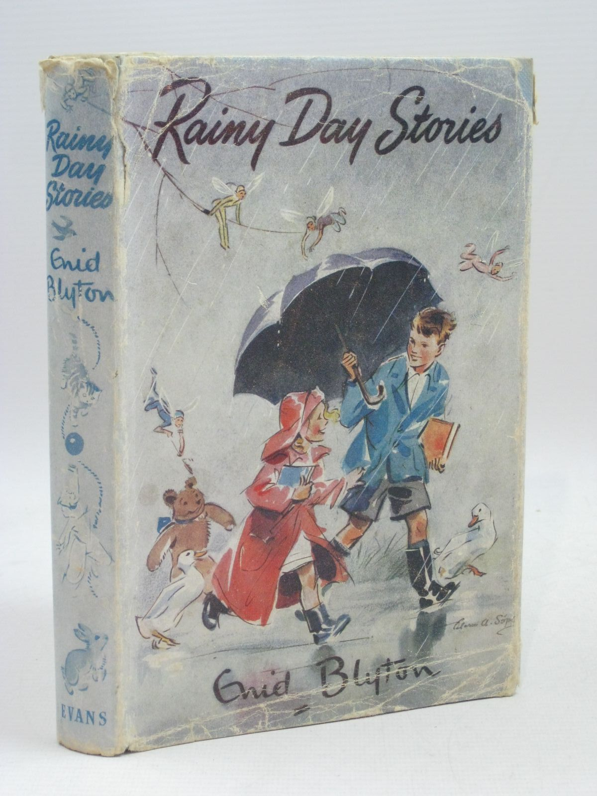 Photo of RAINY DAY STORIES written by Blyton, Enid illustrated by Unwin, Nora published by Evans Brothers (STOCK CODE: 1405610)  for sale by Stella & Rose's Books