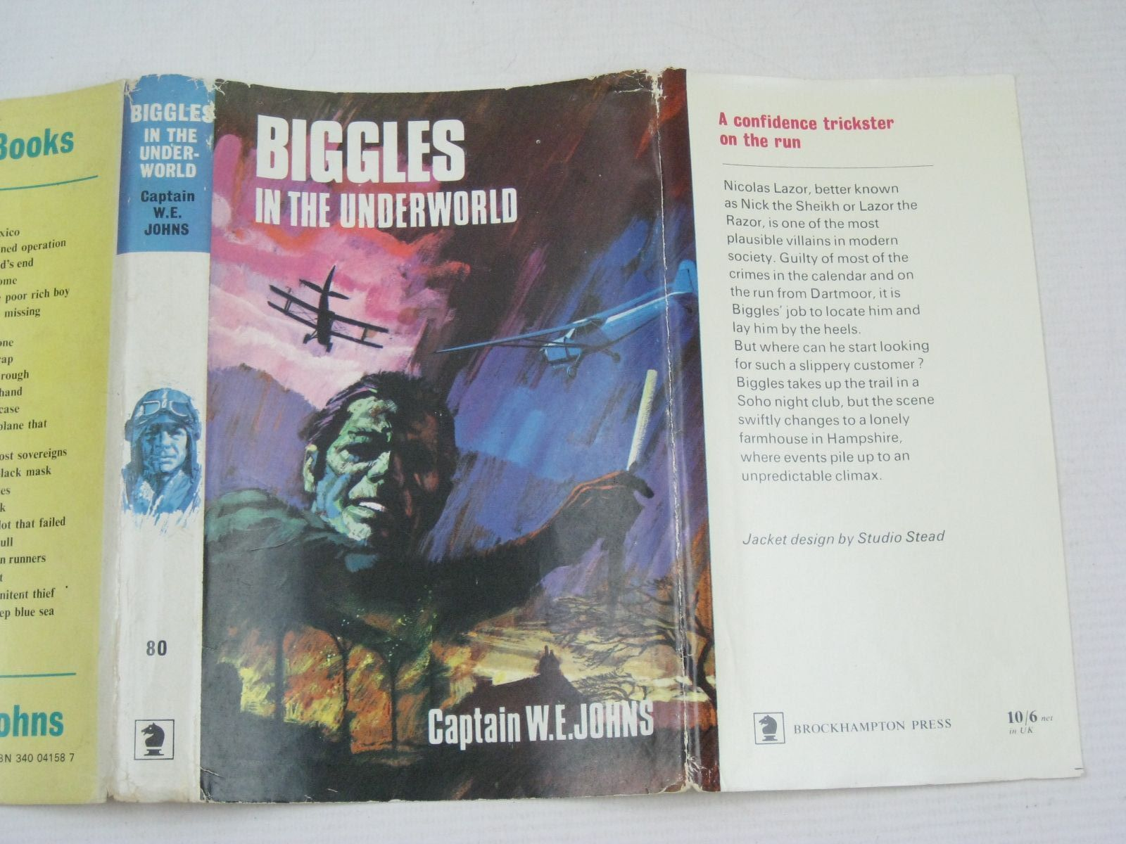 Photo of BIGGLES IN THE UNDERWORLD written by Johns, W.E. published by Brockhampton Press (STOCK CODE: 1405611)  for sale by Stella & Rose's Books