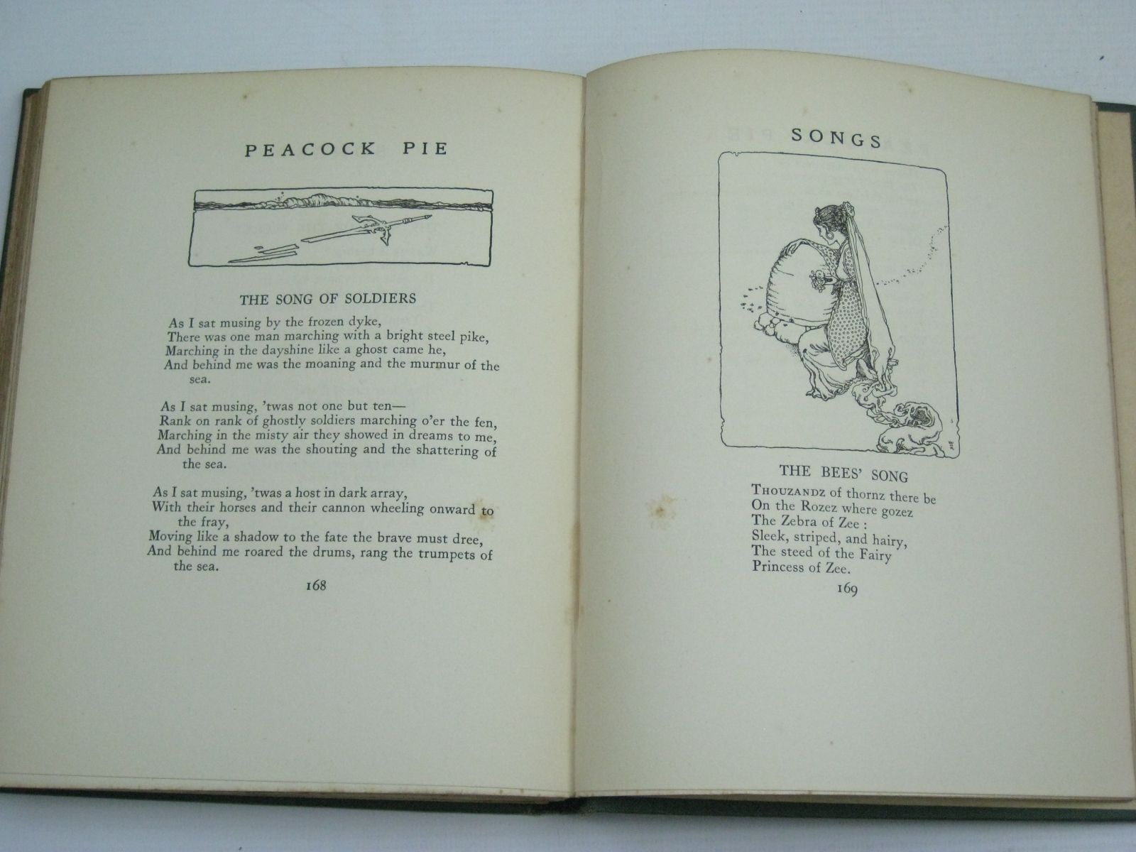 Photo of PEACOCK PIE - A BOOK OF RHYMES written by De La Mare, Walter illustrated by Robinson, W. Heath published by Constable and Company Ltd. (STOCK CODE: 1405775)  for sale by Stella & Rose's Books