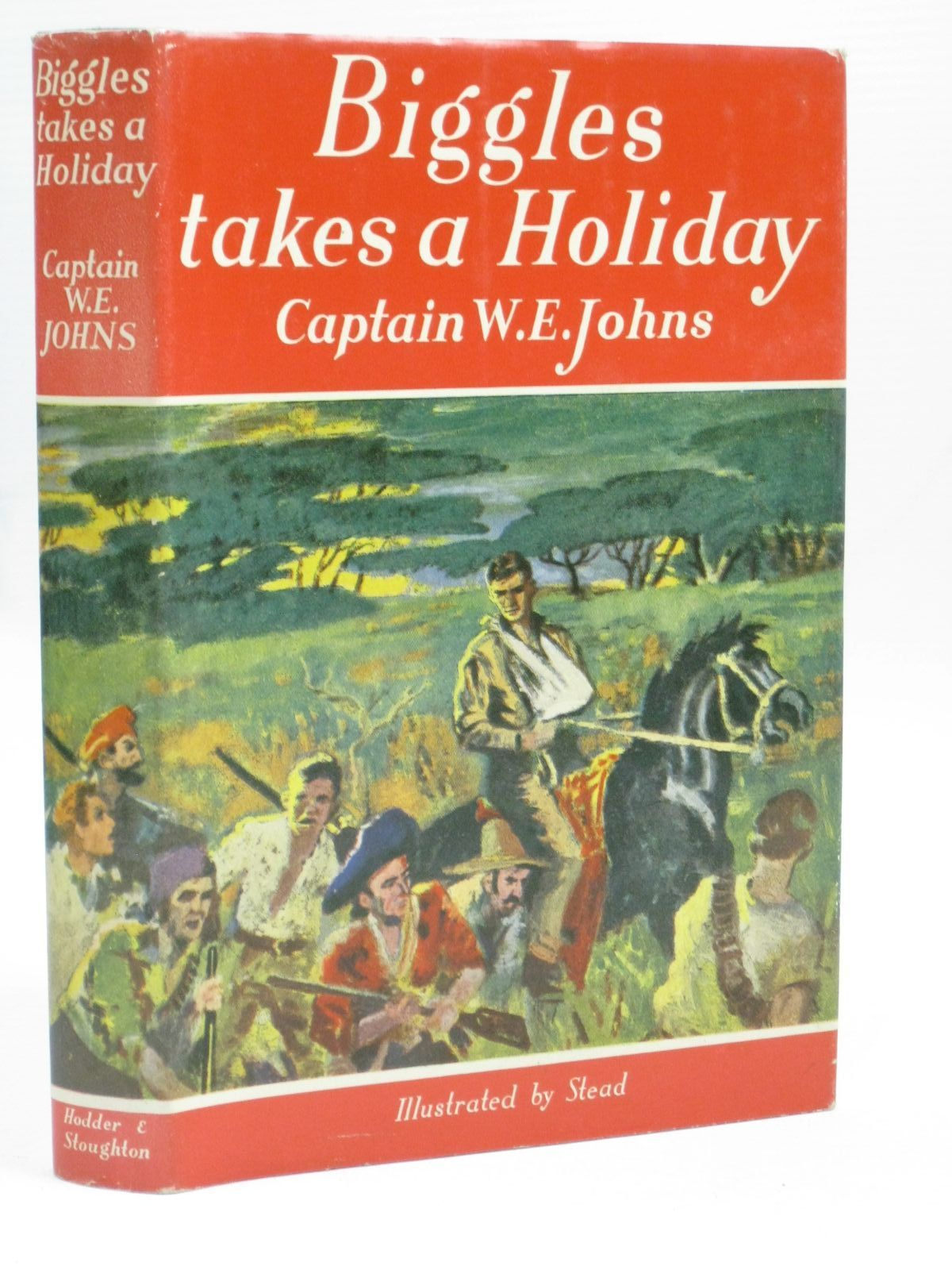 Photo of BIGGLES TAKES A HOLIDAY written by Johns, W.E. illustrated by Stead,  published by Hodder & Stoughton (STOCK CODE: 1405850)  for sale by Stella & Rose's Books
