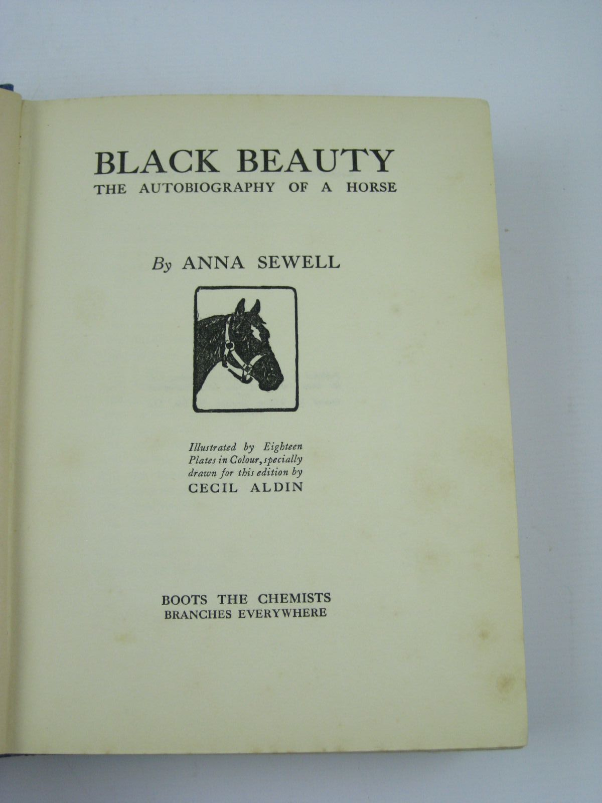 Photo of BLACK BEAUTY written by Sewell, Anna illustrated by Aldin, Cecil published by Jarrolds, Boots the Chemists (STOCK CODE: 1406297)  for sale by Stella & Rose's Books